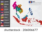 aec asean economic community... | Shutterstock .eps vector #206006677