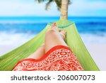 Girl Enjoying On The Beach