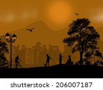 design background with... | Shutterstock . vector #206007187