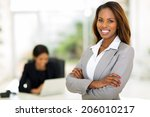 smart african business woman in ... | Shutterstock . vector #206010217