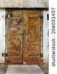 rusty old metal door in an... | Shutterstock . vector #206031457