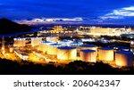oil tank in power station  ... | Shutterstock . vector #206042347