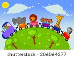 the nice african animals travel ... | Shutterstock . vector #206064277