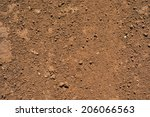 Brown Ground Surface. Close Up...