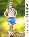 portrait of little girl... | Shutterstock . vector #206068867