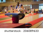 young gymnast girl performing... | Shutterstock . vector #206089633