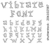 vector line font.hand drawn... | Shutterstock .eps vector #206102587