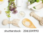 traditional alternative therapy ...   Shutterstock . vector #206104993