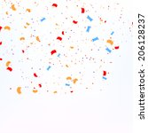 confetti on white background | Shutterstock . vector #206128237