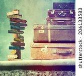vintage travel bags  | Shutterstock . vector #206133583