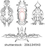 pinstripe graphics   vinyl... | Shutterstock .eps vector #206134543