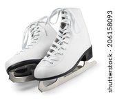 figure skates isolated on white ... | Shutterstock . vector #206158093