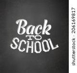 back to school   typographic... | Shutterstock .eps vector #206169817