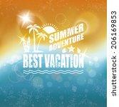 abstract summer background.  | Shutterstock . vector #206169853