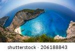 navagio shipwreck beach   one... | Shutterstock . vector #206188843