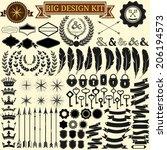 big vintage design kit.... | Shutterstock .eps vector #206194573