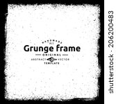 abstract grunge frame. vector... | Shutterstock .eps vector #206200483