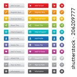 web button set in various... | Shutterstock .eps vector #206209777