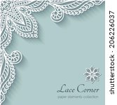 Paper Background With Lace...