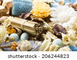 dried scented flowers used as... | Shutterstock . vector #206244823