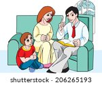 vector family tale time in color | Shutterstock .eps vector #206265193