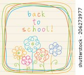 floral card   back to school ... | Shutterstock . vector #206273977