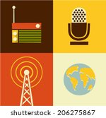 vector illustration icon set of ...   Shutterstock .eps vector #206275867
