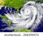 huge hurricane between florida... | Shutterstock . vector #206294473