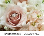 engagement ring with flowers    Shutterstock . vector #206294767