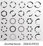 circular arrows  | Shutterstock .eps vector #206315923