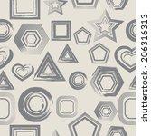 abstract seamless pattern  | Shutterstock .eps vector #206316313