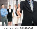 businessman offering an... | Shutterstock . vector #206326567