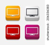 square button  monitor | Shutterstock . vector #206336383
