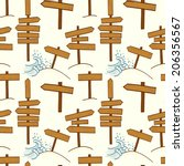 seamless pattern with doodle...   Shutterstock .eps vector #206356567
