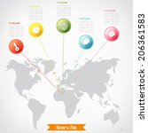 business infographics  vector... | Shutterstock .eps vector #206361583