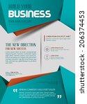 business template. poster.... | Shutterstock .eps vector #206374453