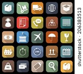 logistics falt icons with long... | Shutterstock .eps vector #206383513