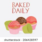 poster of delicious yummy... | Shutterstock .eps vector #206428597