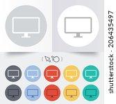 computer widescreen monitor... | Shutterstock .eps vector #206435497