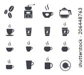 coffee icon set  vector... | Shutterstock .eps vector #206448763