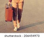 close up image of traveler legs ...   Shutterstock . vector #206454973