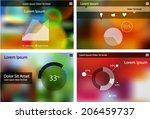 flat ui design infographic... | Shutterstock .eps vector #206459737