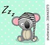 Sleeping Koala In A Cap