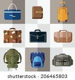 bags  suitcases  backpacks....   Shutterstock .eps vector #206465803