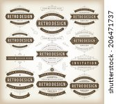 vintage vector design elements. ... | Shutterstock .eps vector #206471737