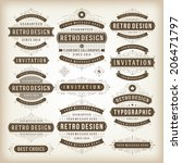 vintage vector design elements. ... | Shutterstock .eps vector #206471797