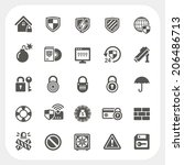 security icons set | Shutterstock .eps vector #206486713