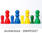 pawns as methaphor for humans | Shutterstock . vector #206491027
