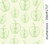 vector pattern with a slice of... | Shutterstock .eps vector #206491717