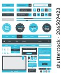 web element set | Shutterstock .eps vector #206509423